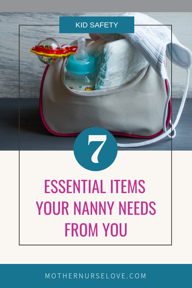 diaper bag with essential items for the nanny